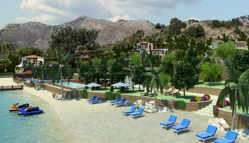 Beach belonging to the complex