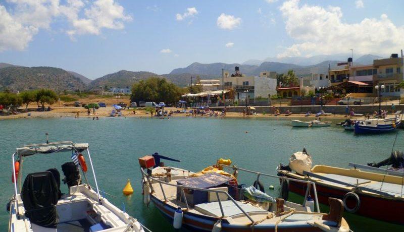 Milatos beach & harbour
