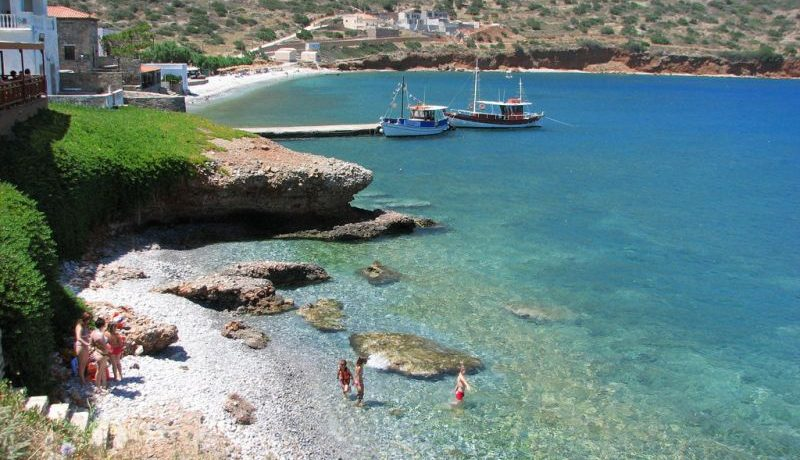 Nearby beach and village of Plaka