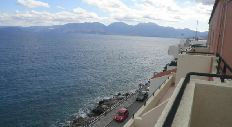 Seafront tourist apartments, right at the sea promenade of Agios Nikolaos