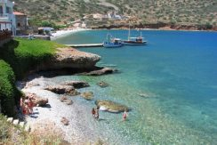 Nearby coastal village and beach of Plaka