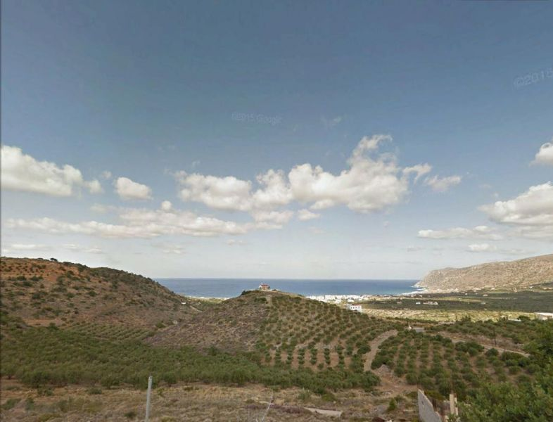 Building plot with sea views and building permit for house with swimming pool