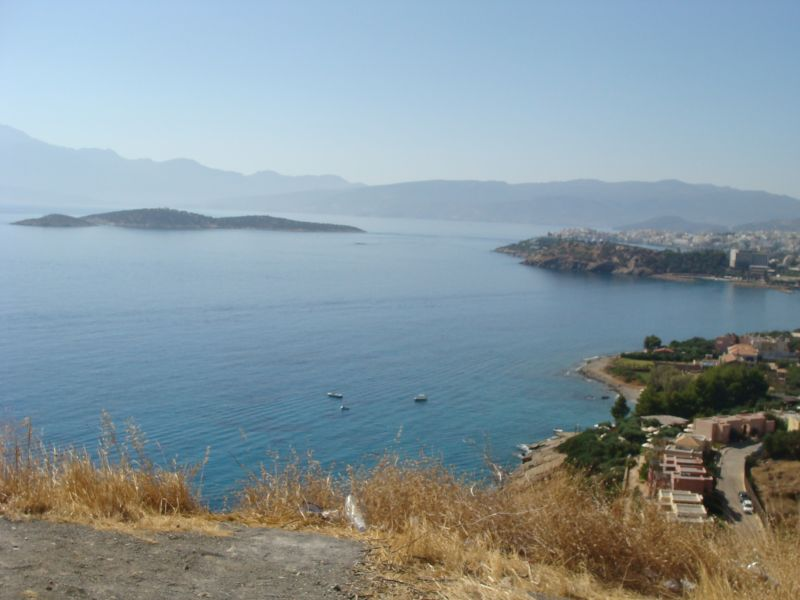 Large seaside building land on top of hill near Agios Nikolaos, fantasic views