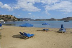 The sandy beach of Elounda