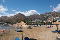 The sandy beach of Elounda