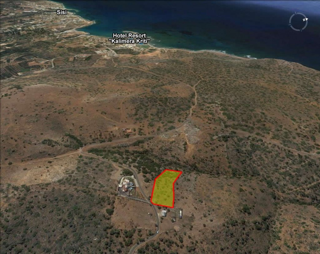 Seaview building land (5860 m2) between Sissi and Milatos