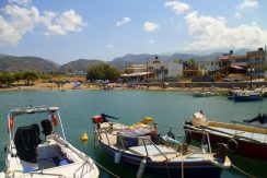 Nearby beach and harbour of Milatos