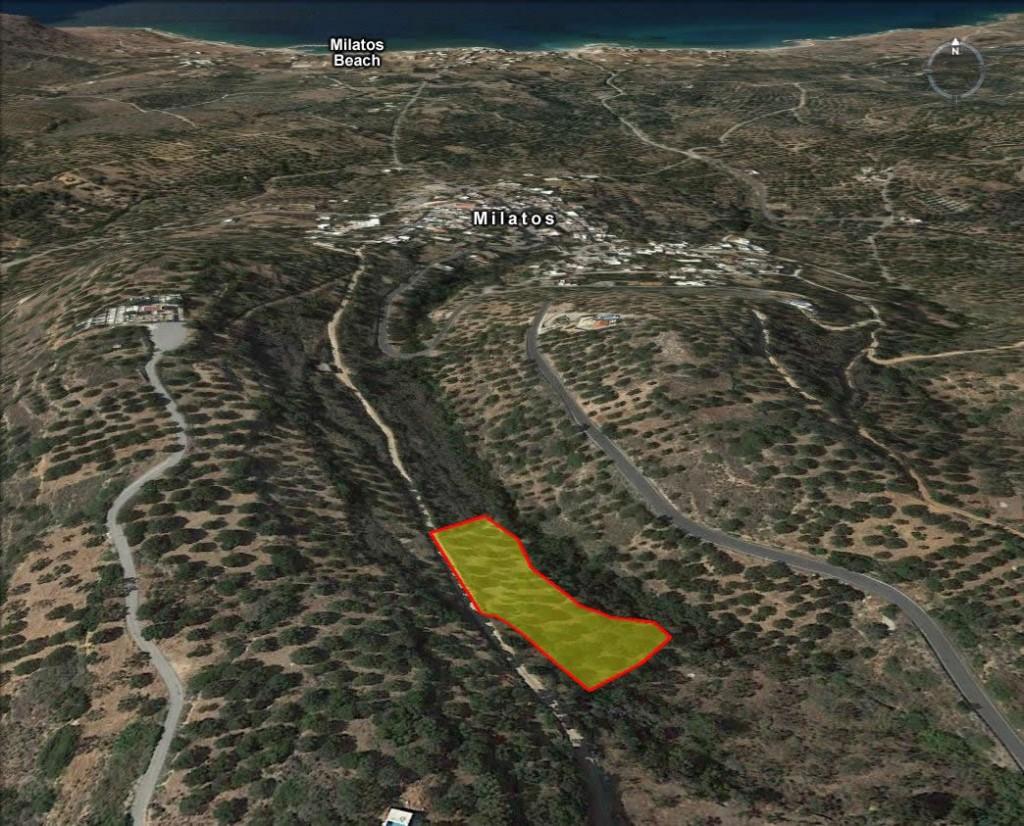 Seaview building land (2518 m2) between near Milatos