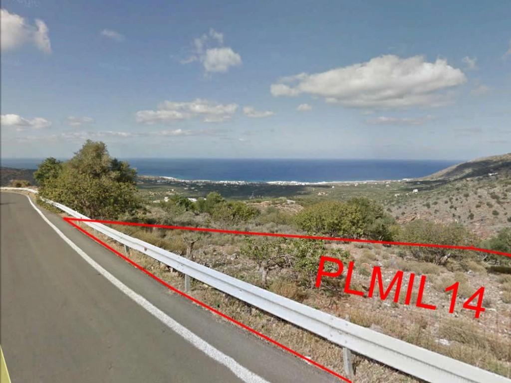 Two adjoining plots of seaview building land (4600 m2 each) near Milatos