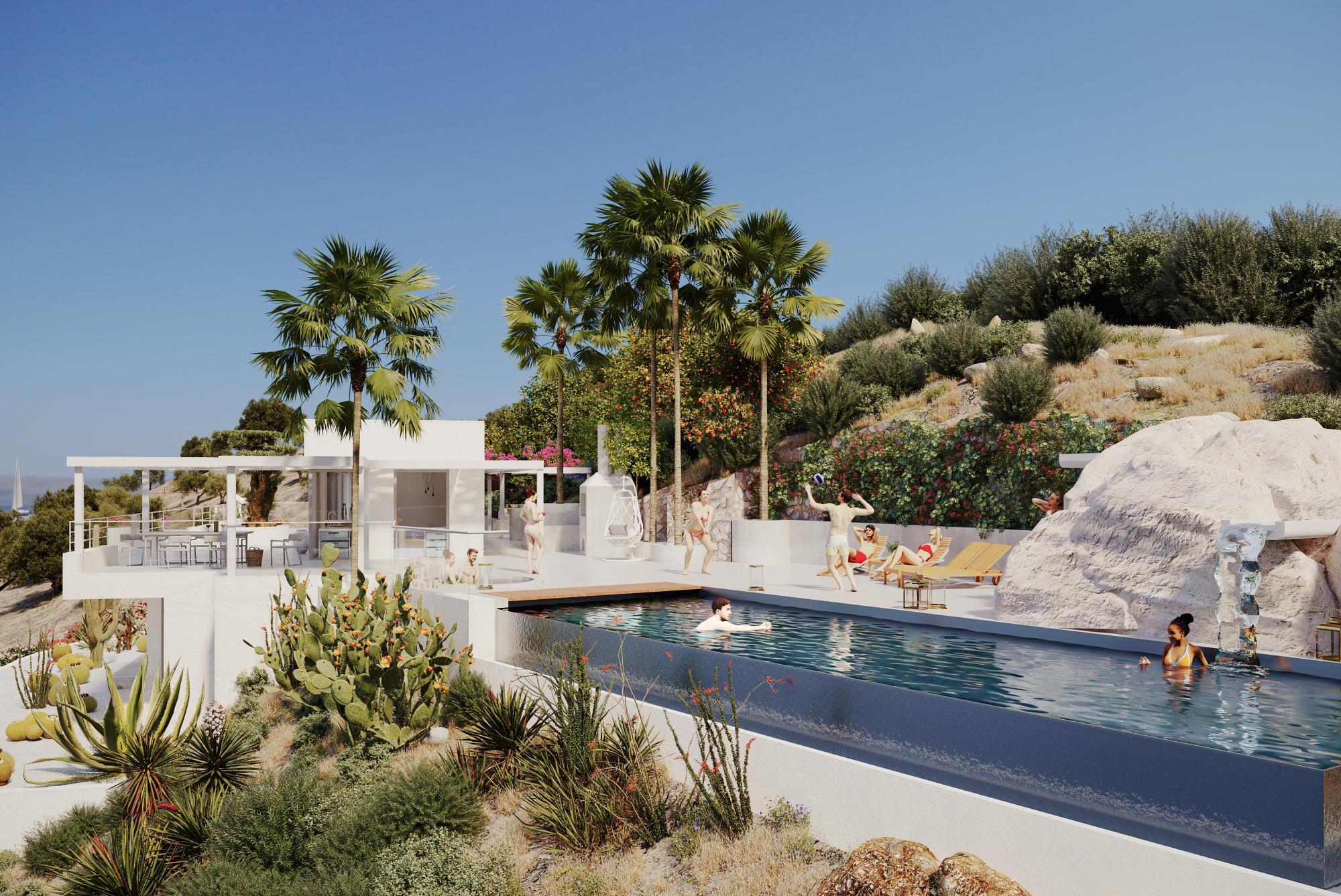 Unique villa with amazing sea and island views. Mochlos