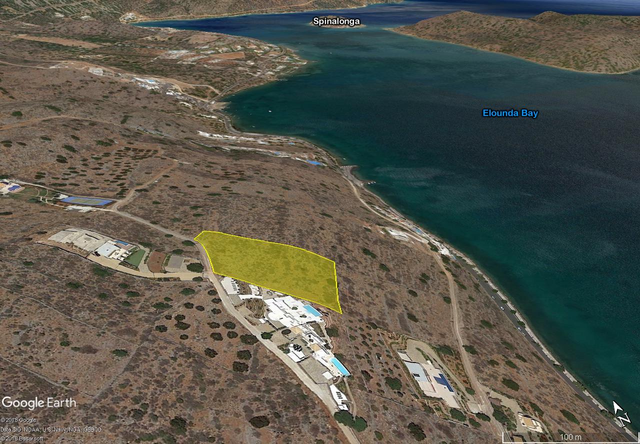 Seaside building land, 5073 m2, with wonderful sea views, Elounda