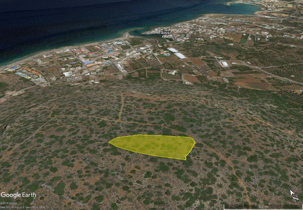 Seaview building land (5538 m2) near Sissi, Crete