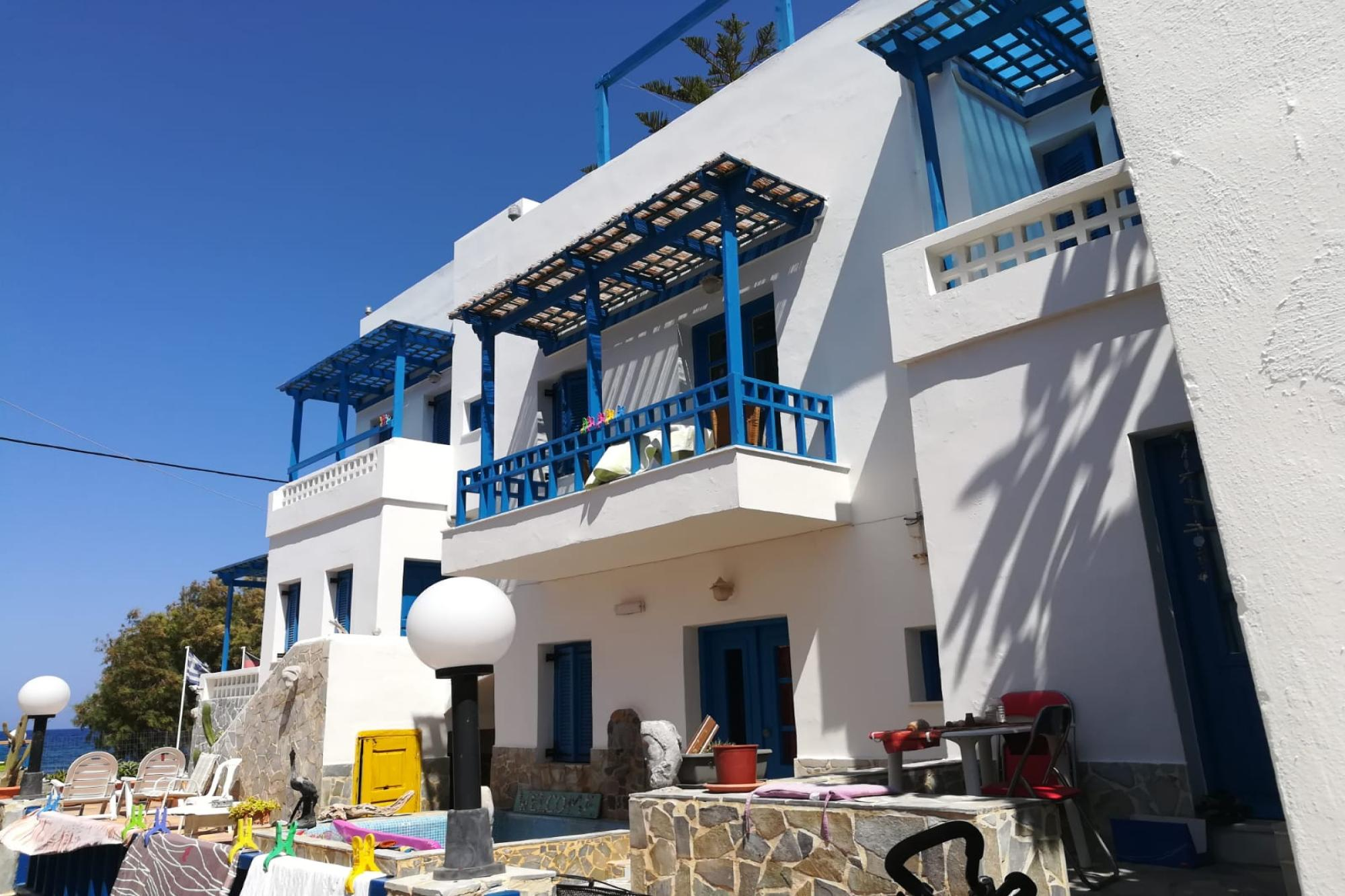 Complex/Hotel of 8 apartments on the seashore, next to beach.