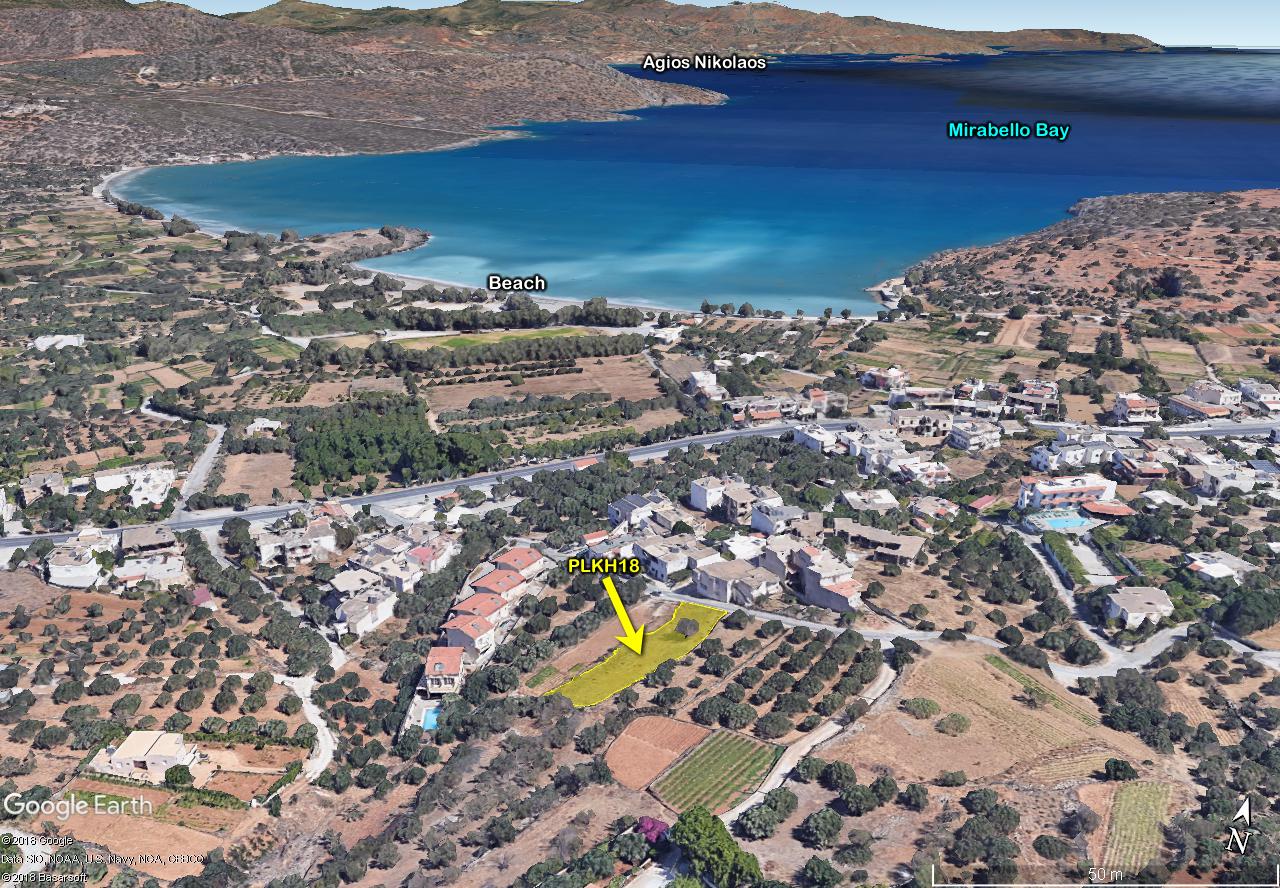 Building plot inside seaside tourist resort near Agios Nikolaos, Crete