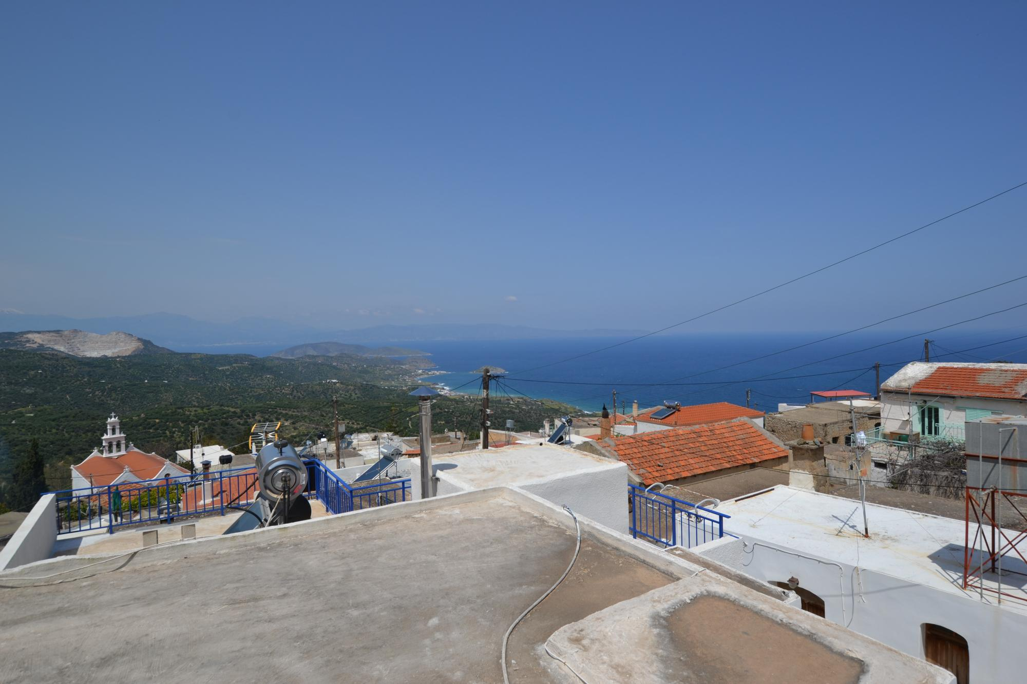 Traditional village house with Sea views from roof terrace.