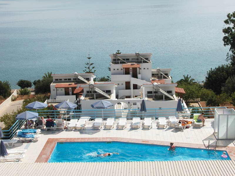 Seafront holiday apartment complex (94 beds) in the prime tourist resort of Elounda, Crete