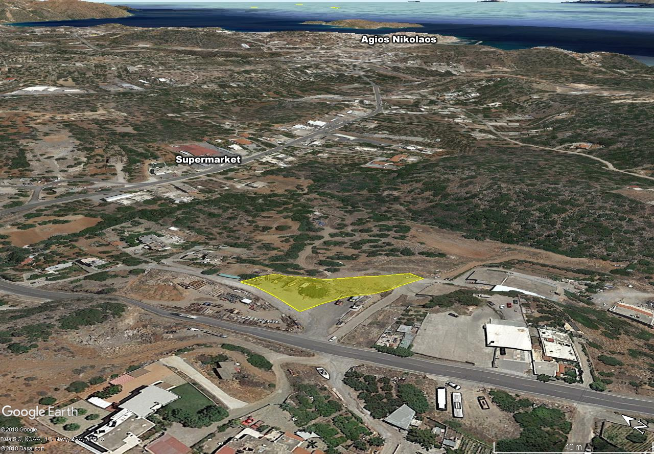 Seaview building land of 2025 m2, close to supermarket, town, beaches