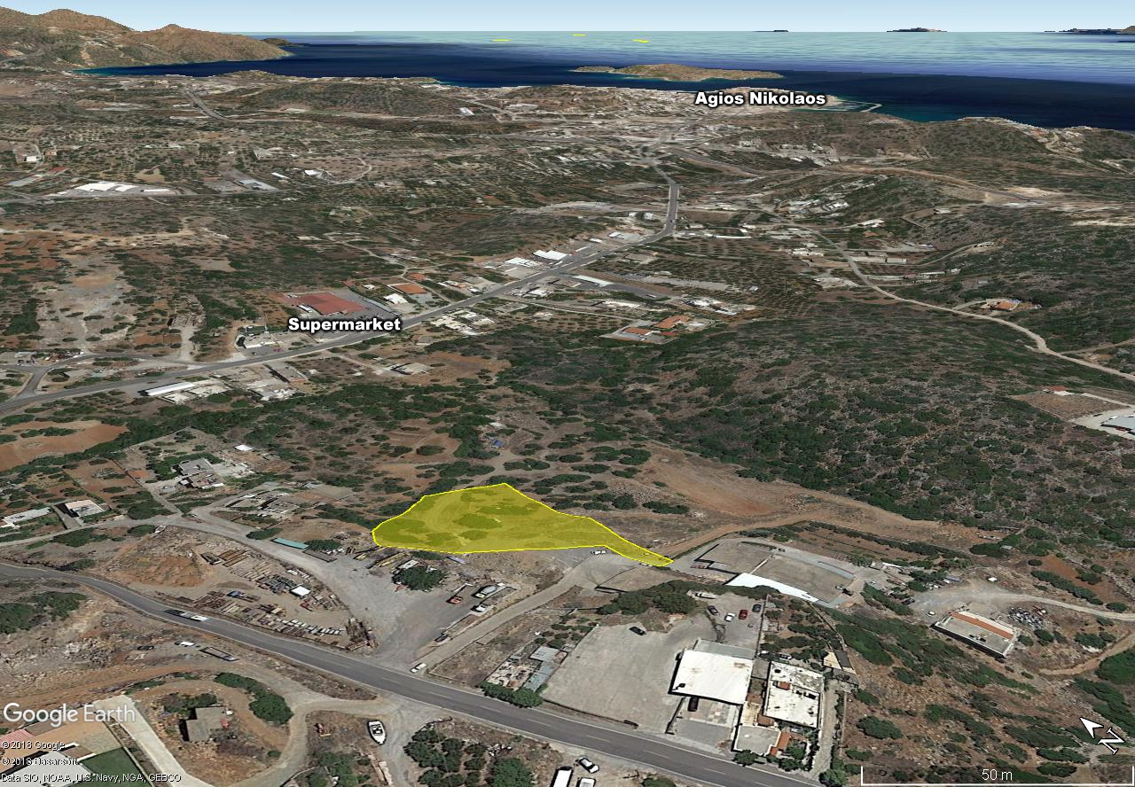 Seaview building land of 4088 m2, close to supermarket, town, beaches