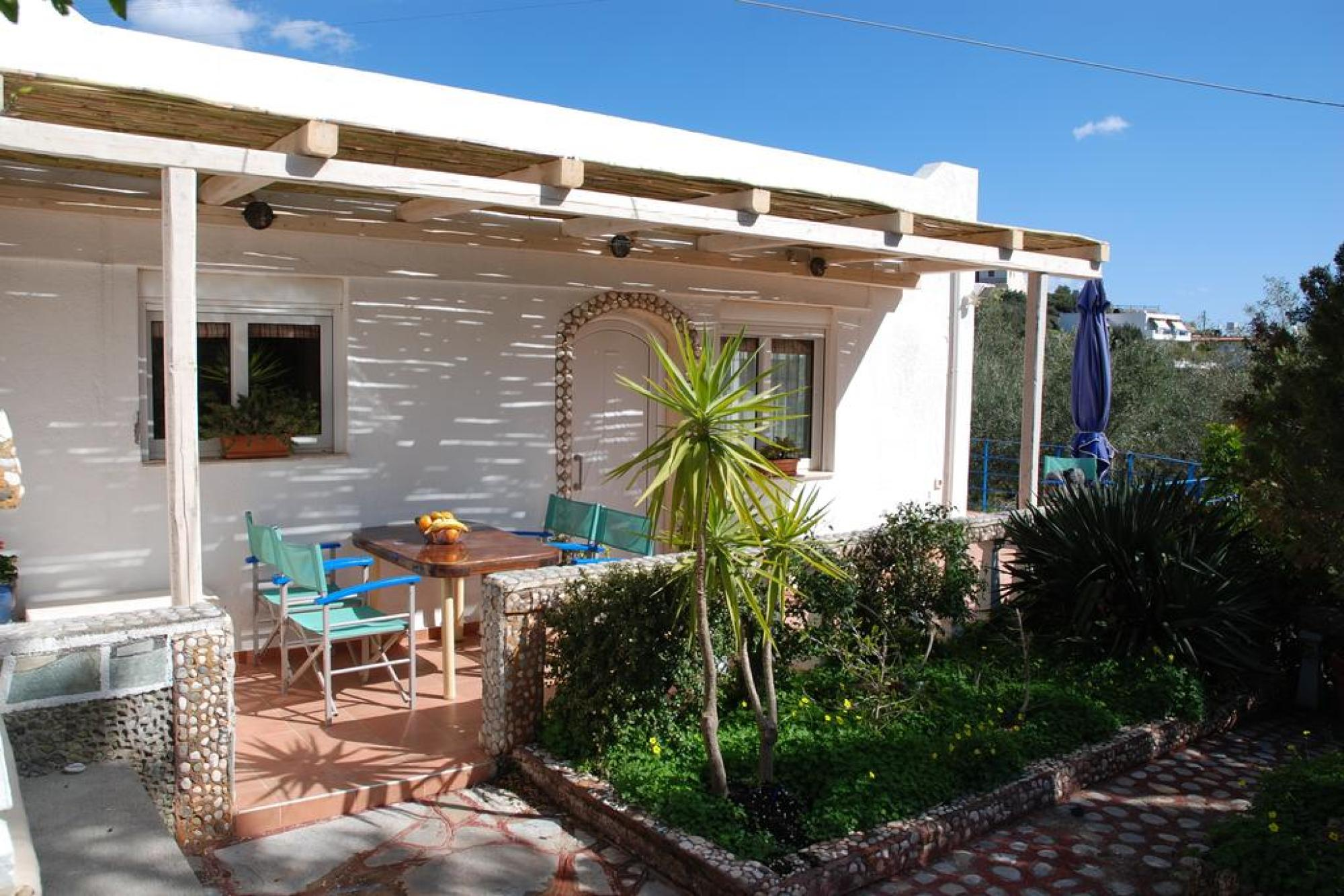 3 bedroom semidetached villa plus guest apt on private land in desired location.