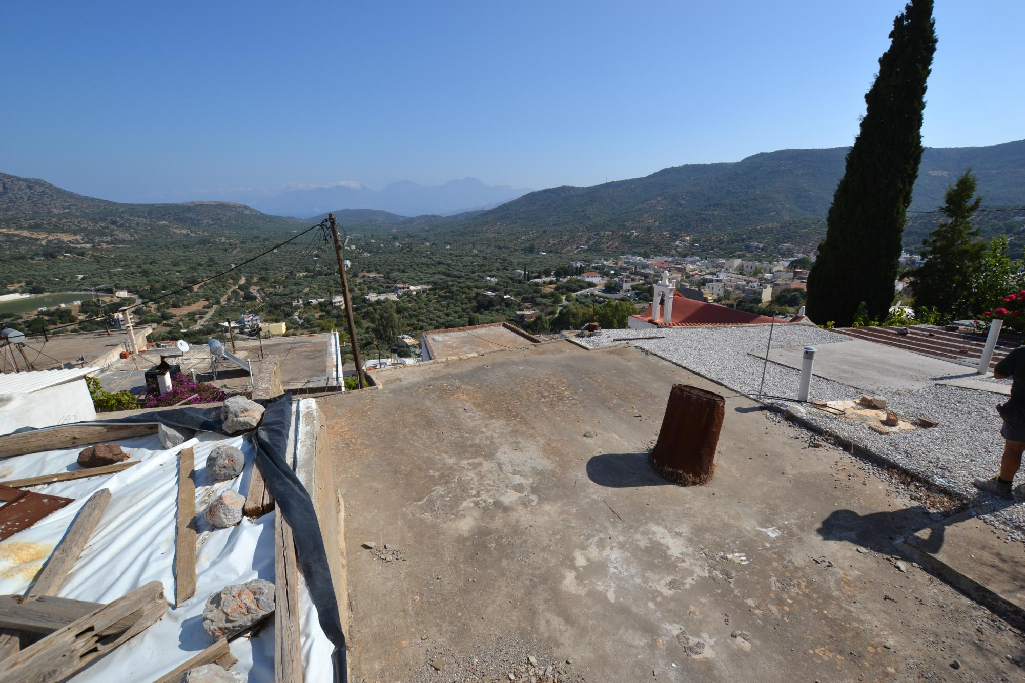 House for renovation in Kritsa with sea views from Garden.