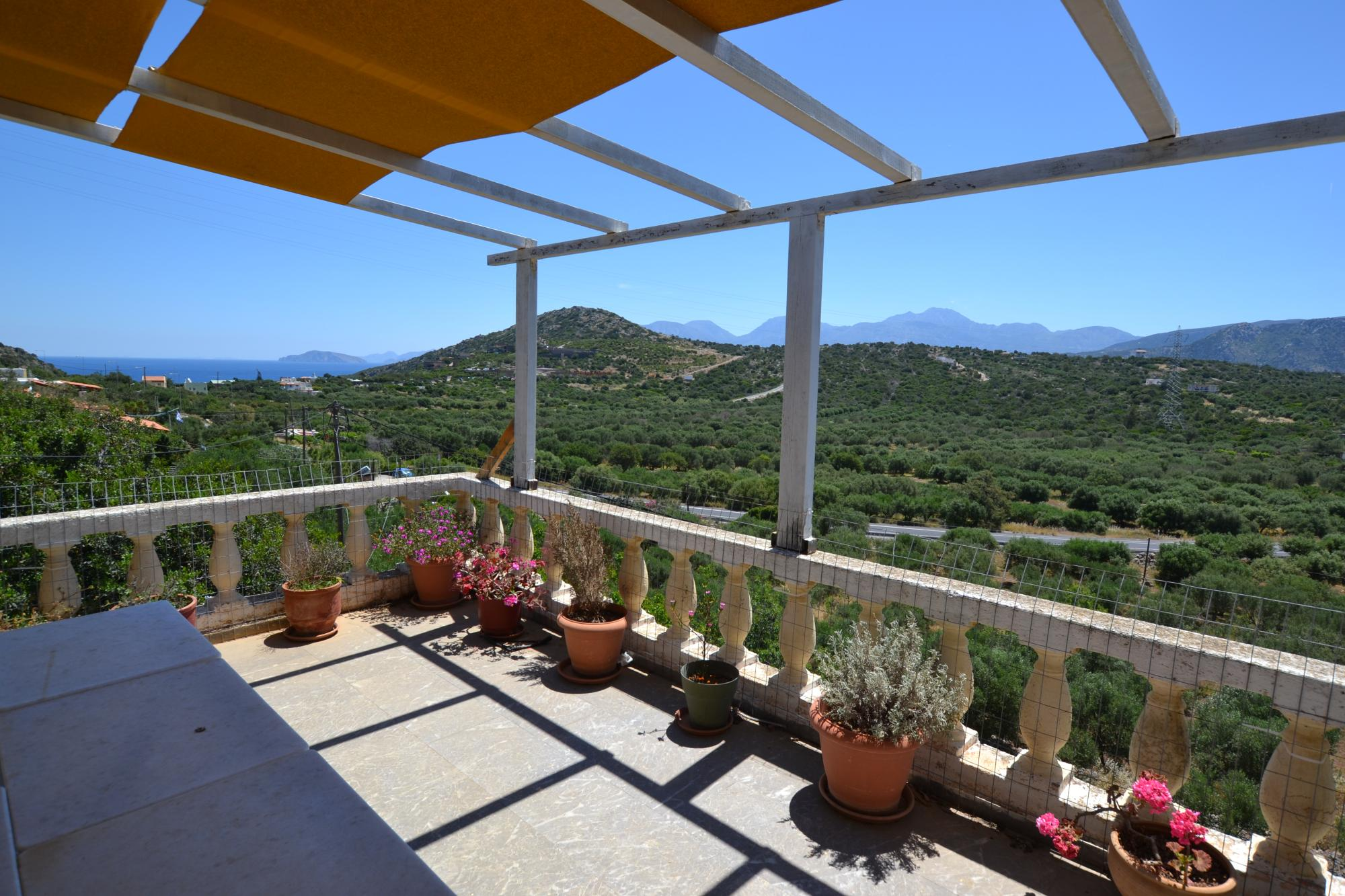 3 bedroom house with sea views and Olive grove.