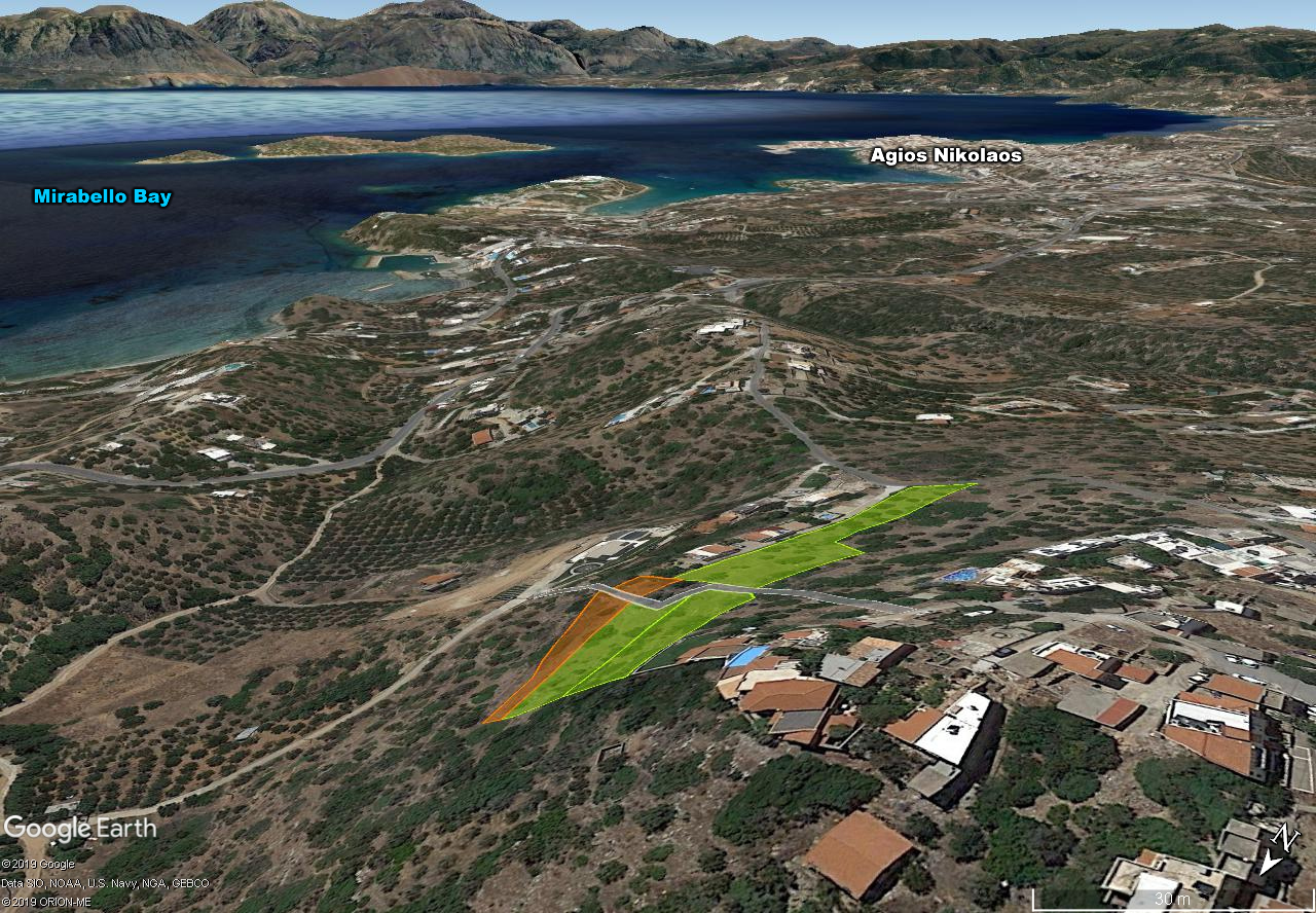 Group of adjoining seaview building plots, Agios Nikolaos, Crete