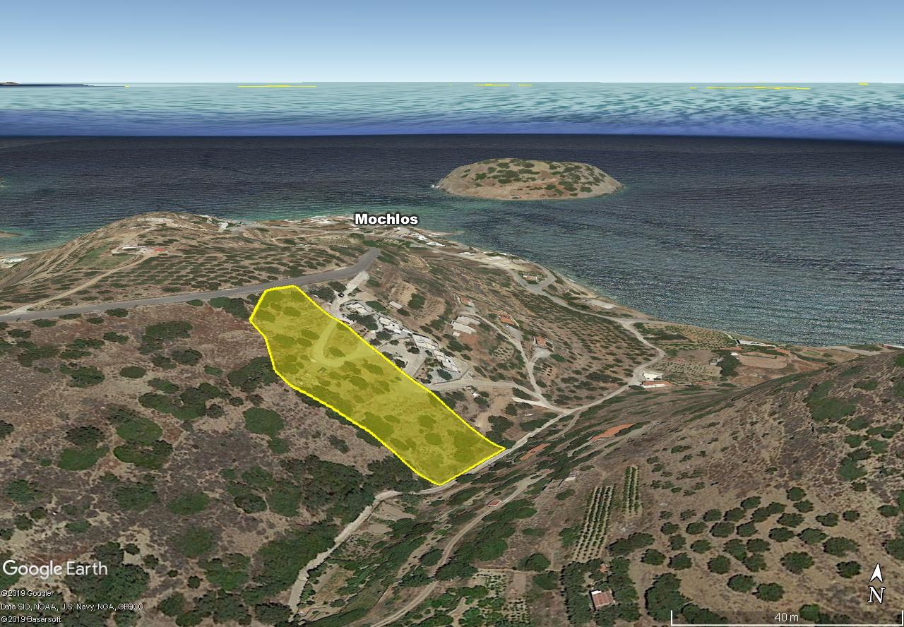 Seaview building land of 4497 m2 in Mochlos, Crete