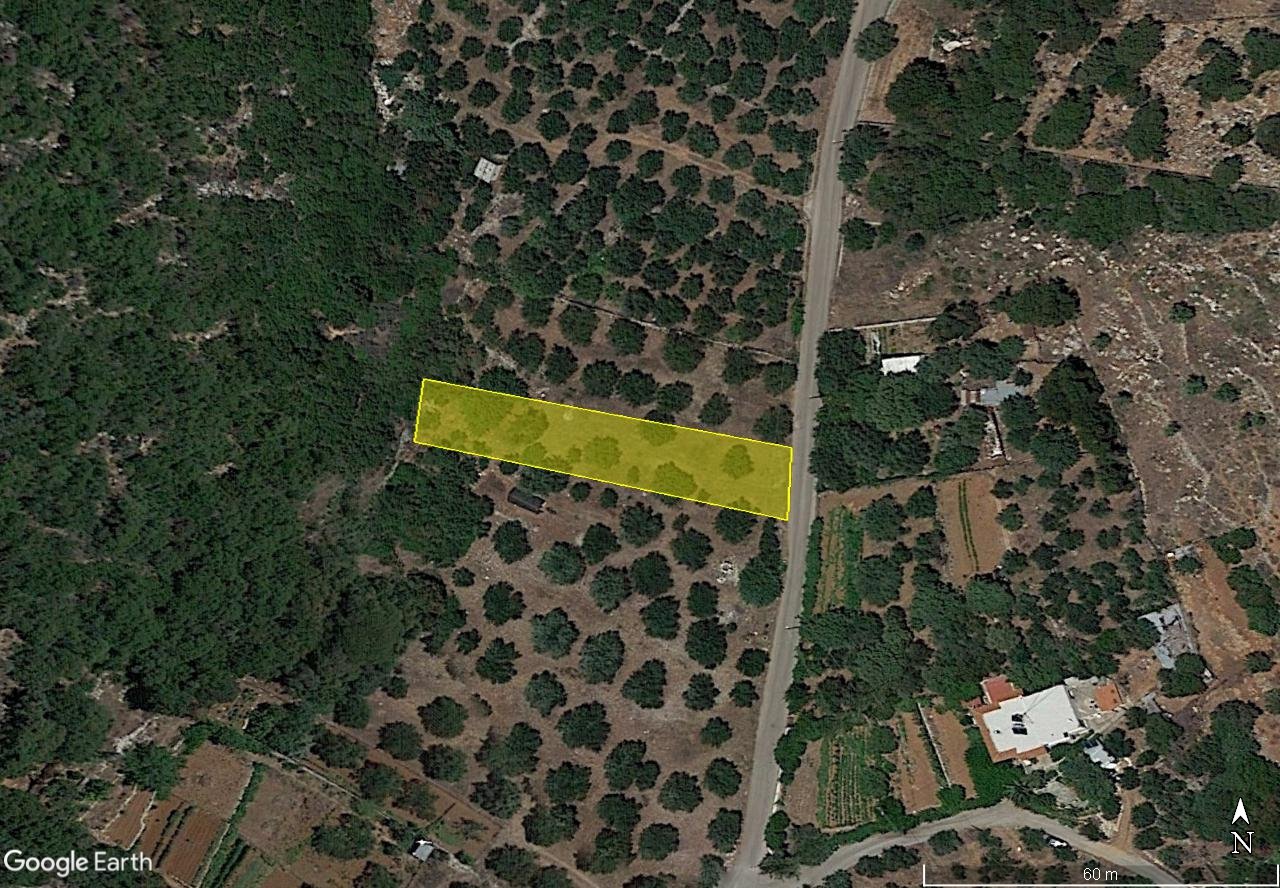 Building plot of 795m2 in quiet rural area near Agios Nikolaos