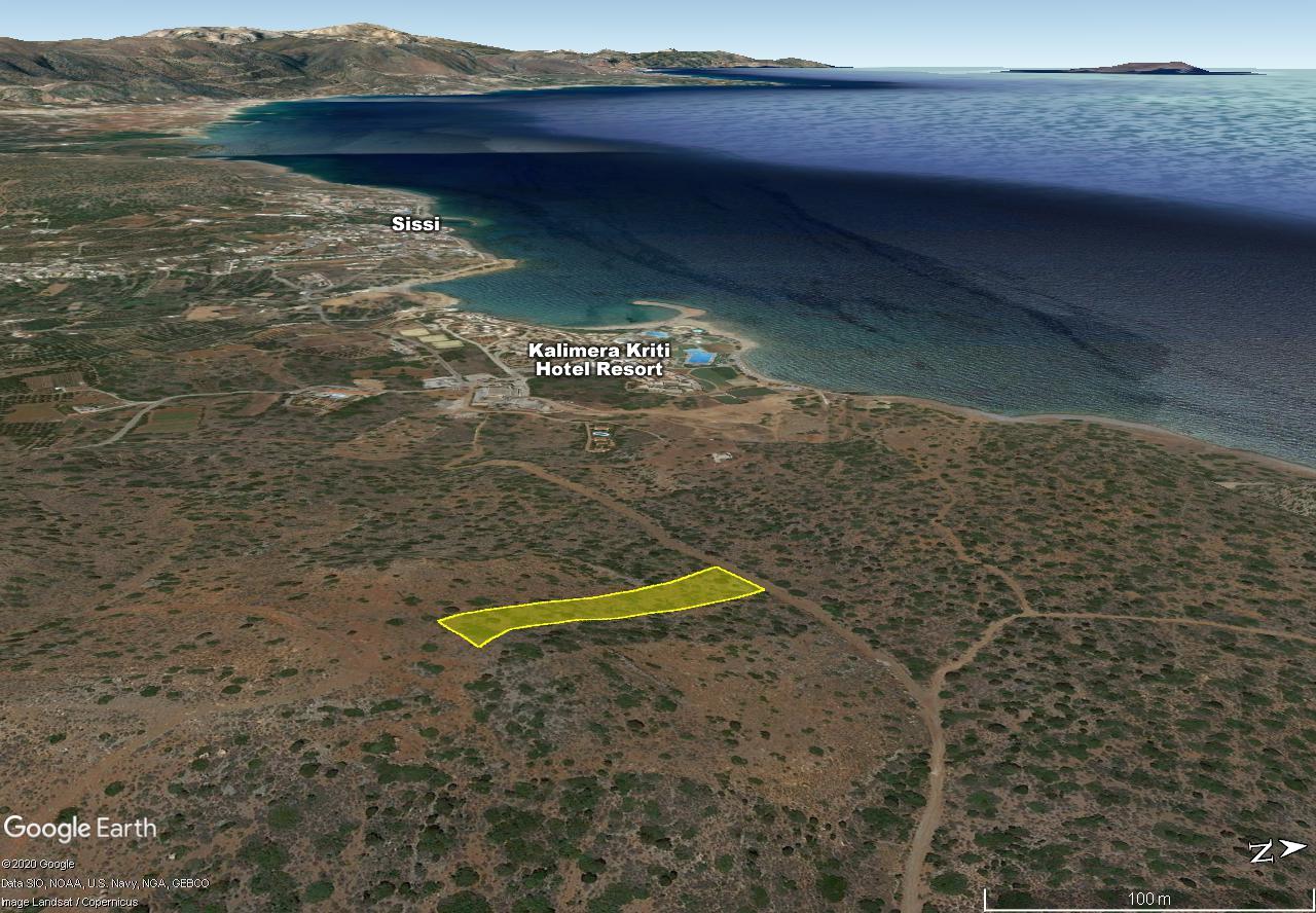 Seaview building plot of 5533 m2, Sissi-Milatos area