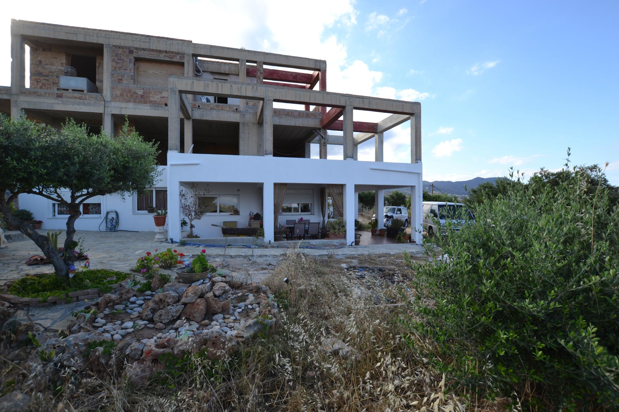 Large property with fabulous sea views on town edge.