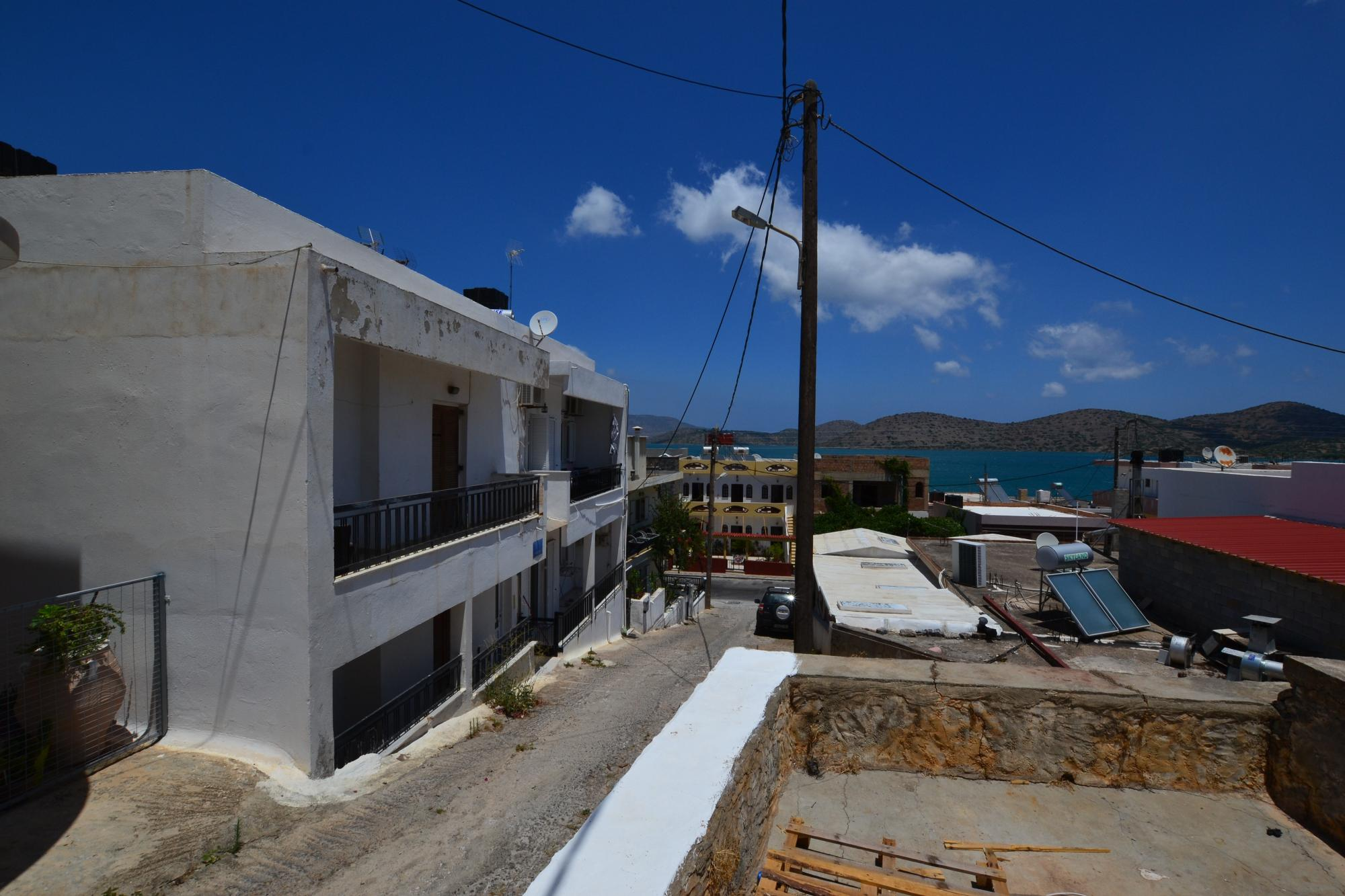 one bedroom apartment for sale in Elounda. 50m from sea.