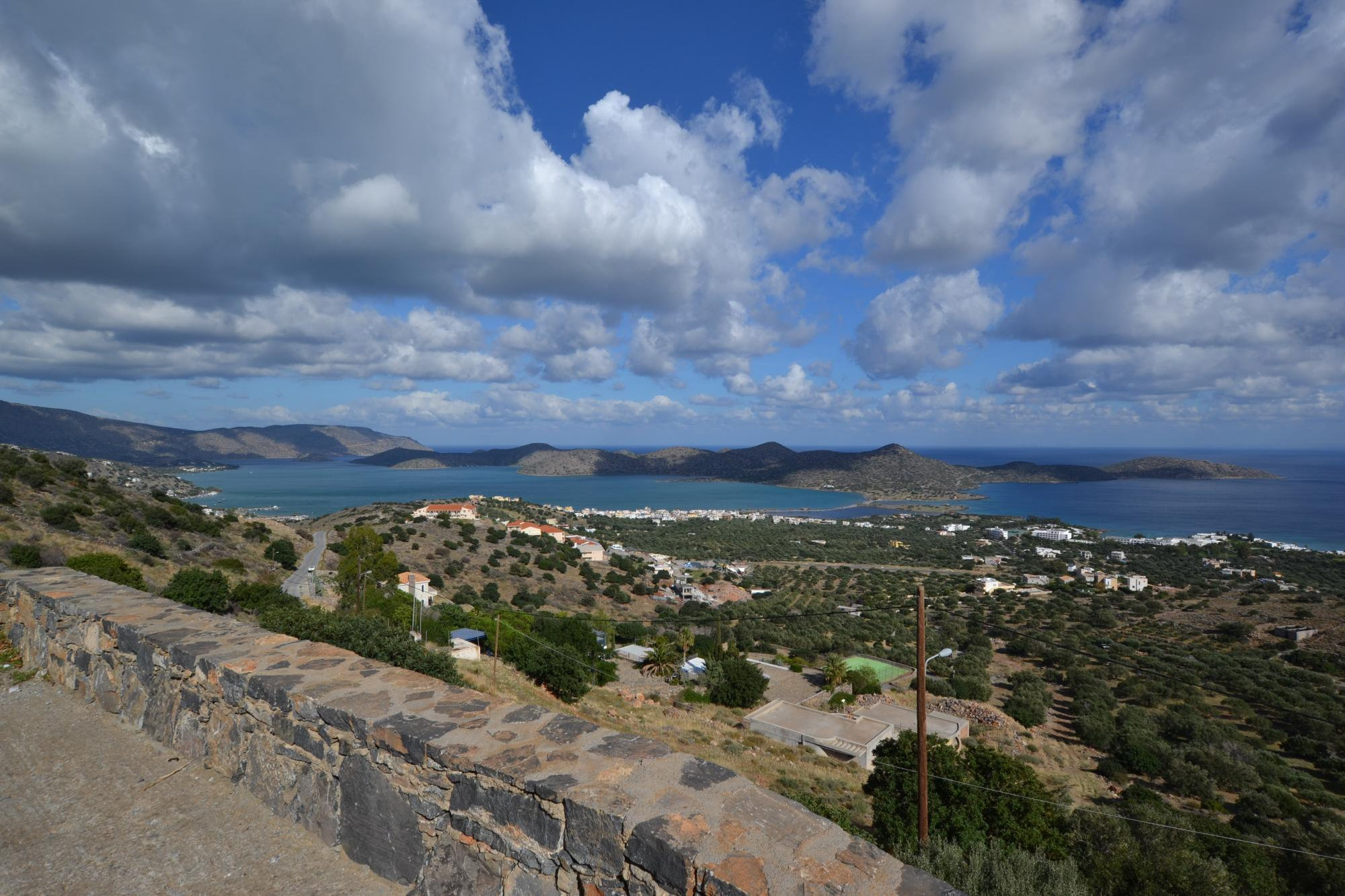 Large building for development with stunning views of Elounda and Mirabello bay.