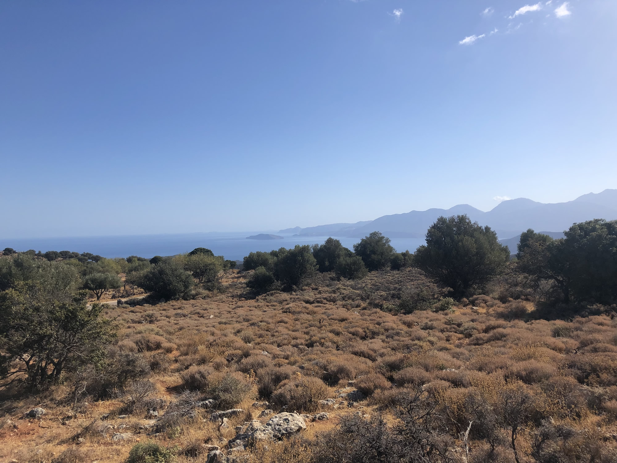 Panoramic seaview plot in quiet rural area