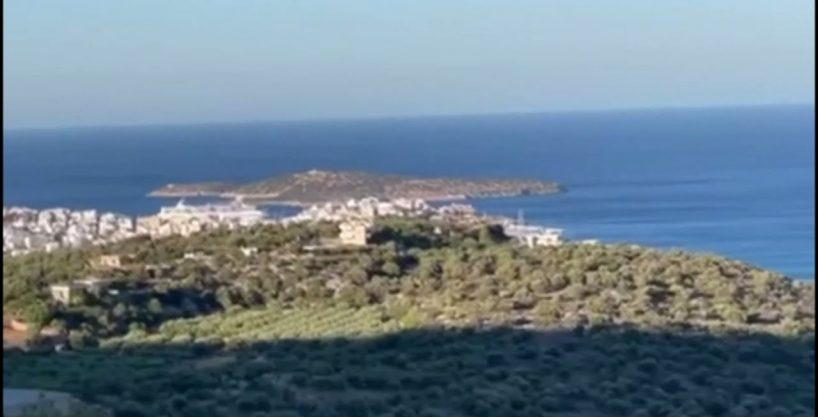Seaview building land in the outskirts of Agios Nikolaos